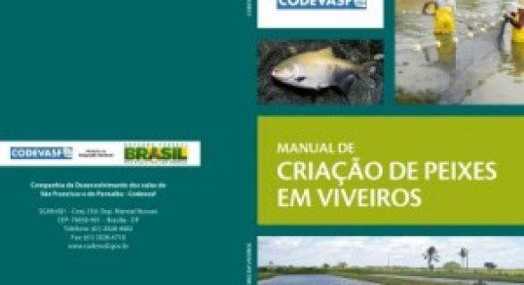 Codevasf ensina a criar peixes em viveiros em novo manual disponível para o público