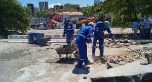Prefeitura de Maceió executa obras de recuperação de vias