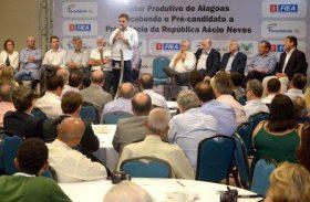 Aécio Neves é sabatinado pelos empresários alagoanos