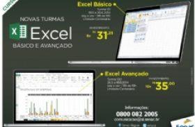 Senac Alagoas abre matrículas para cursos Excel