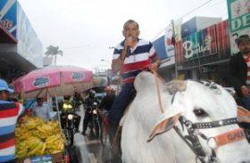 Deputado estadual comemora vitória no lombo de boi em Arapiraca