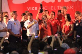 Ao lado de Collor e Renan Filho, Dilma pede fim da corrupção