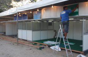 Montagem dos estandes da Expoagro já foram iniciadas