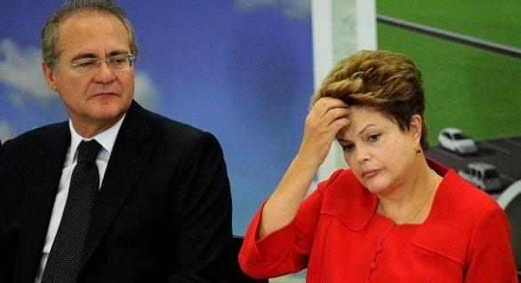 """Renan diz que impedimento de Dilma seria """"botar fogo no Brasil"""""""