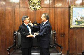 Mesa Diretora da ALE se reúne com senador Renan Calheiros