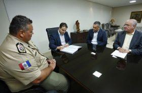 Como secretário, coronel Lima Junior se reúne com a cúpula da Segurança Pública de Alagoas