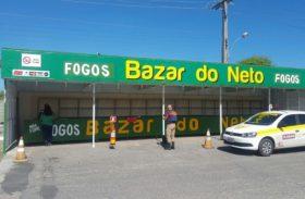 Corpo de Bombeiros de Alagoas inicia fiscalização de barracas de fogos
