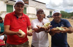 Entrega de pintinhos e alevinos marcam o 1º dia da Seagri no Governo Presente