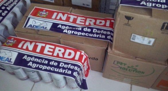 Agência de Defesa Agropecuária interdita 1.155 kg de agrotóxicos em 2016