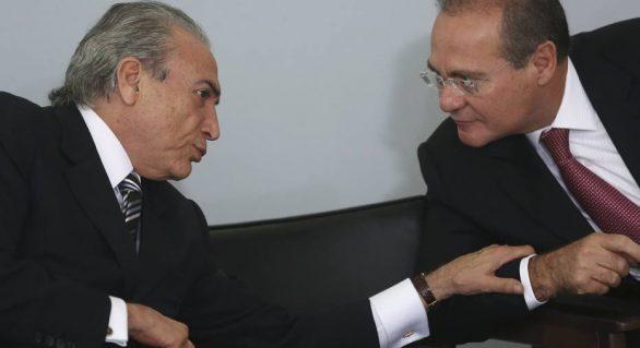 Renan tromba com Temer e tenta barrar eleição indireta de FHC