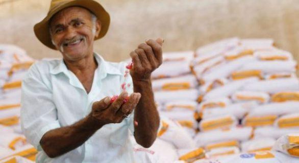 Pequenos produtores são beneficiados com a entrega de mais de 100 toneladas de grãos