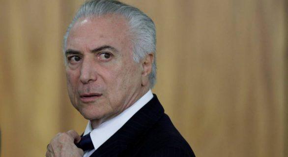 Temer recebe notificação oficial da Câmara sobre denúncia da PGR