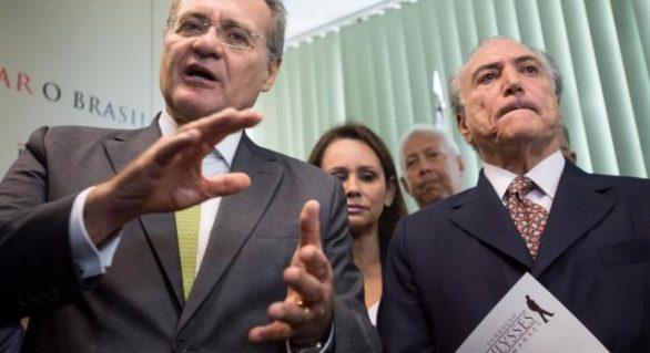 Michel Temer faz de conta que governa país, diz Renan