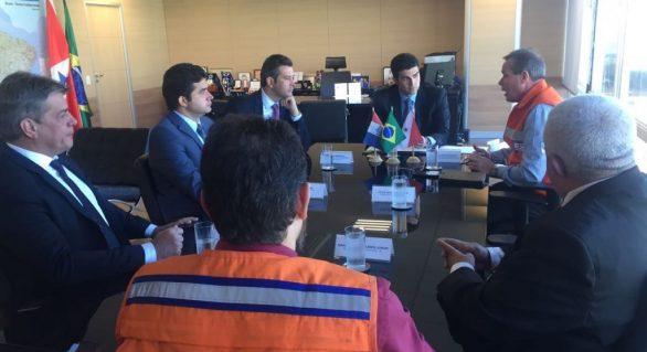 Em Brasília, prefeito recebe anúncio de R$ 6 milhões para obras emergenciais