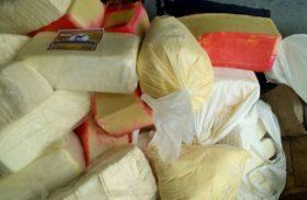 Adeal apreende quase duas toneladas de produtos lácteos clandestinos