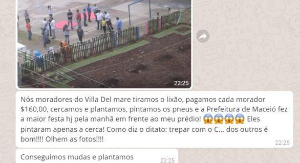 Rui Palmeira é acusado de inaugurar obra paga por moradores da Jatiúca