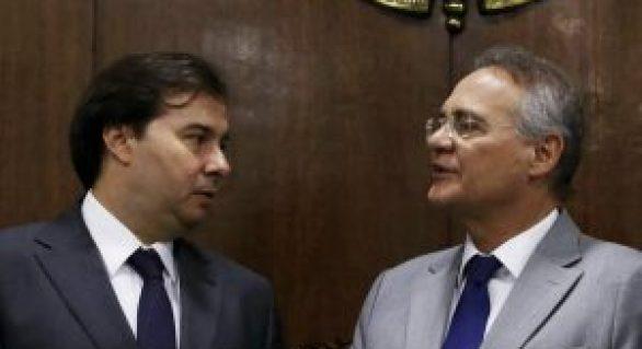 Em jantar com Renan, Rodrigo Maia faz críticas a Michel Temer
