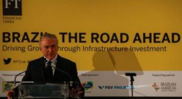 Temer diz a investidores que Brasil é um destino seguro para negócios