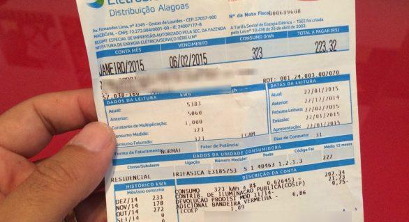 Alagoanos pagam mais caro na conta de energia elétrica