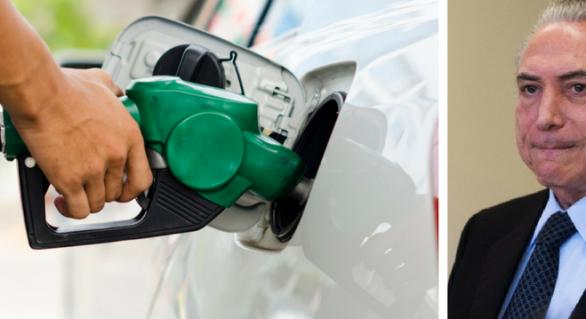 Com Temer, preço da gasolina chega à máxima histórica no Brasil