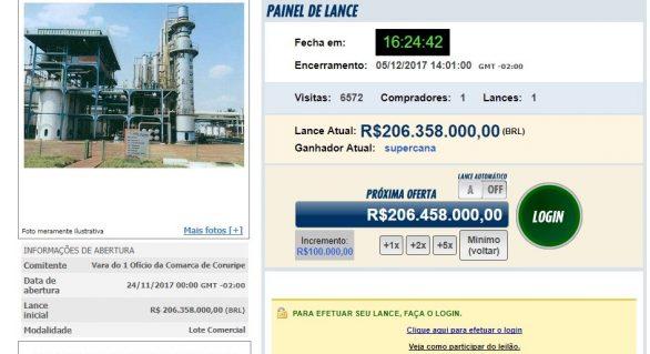 """Abaixo do valor de mercado e parcelada, venda de usina da Laginha vira """"pechincha"""""""