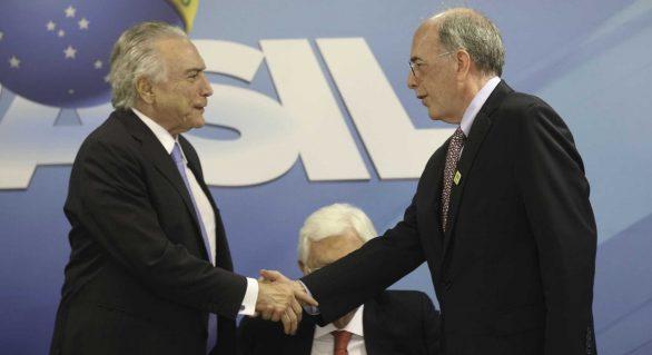 Temer e presidente da Petrobras discutem lei do Repetro