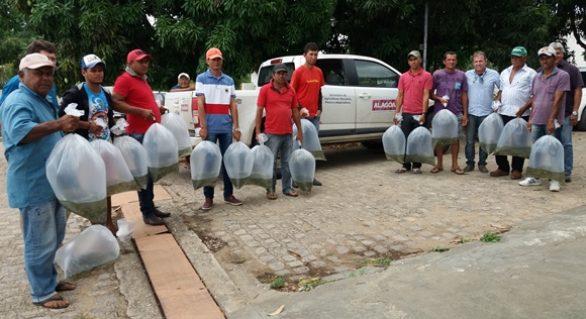 Seagri distribui 30 mil alevinos a agricultores familiares no Litoral e Sertão