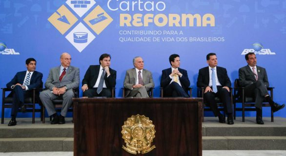 Cartão Reforma vai contemplar 95 municípios