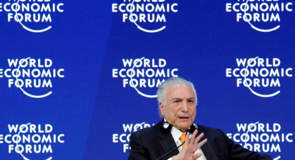 Em Davos, Temer vende reformas e promete estabilidade após eleição