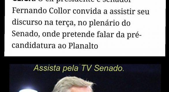 Collor deve anunciar pré-candidatura ao Planalto