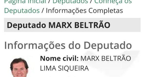 Fim do mistério? Marx Beltrão reassume mandato e 'revela' filiação partidária