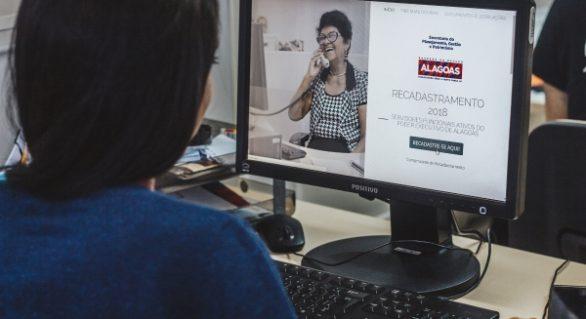 Estado alerta que mais de 9 mil servidores precisam fazer recadastramento