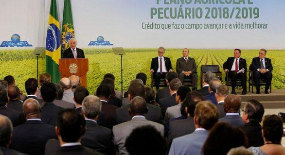 Temer e Maggi anunciam R$ 194,3 bi para Plano Agrícola e Pecuário