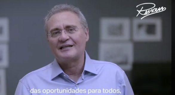 Renan grava vídeo de apoio a Lula, após lançamento de candidatura