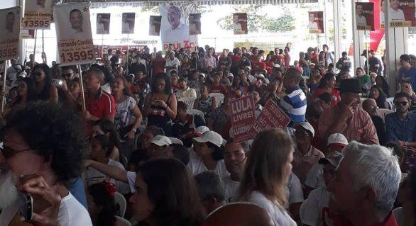 Convenção petista homologa candidaturas e teve a participação de PCdoB, PV e MDB