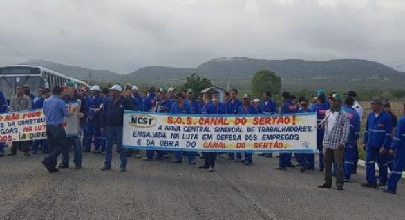 Empregos nas obras do Canal do Sertão devem cair pela metade