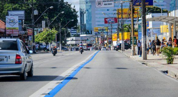 Prefeitura inicia revitalização da Faixa Azul na parte alta