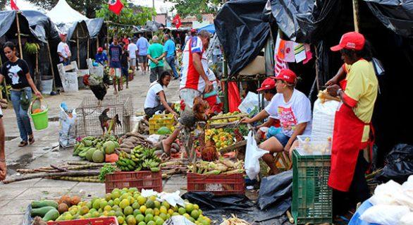 Feira da Reforma Agrária reúne trabalhadores rurais na Praça da Faculdade