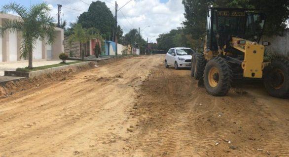Prefeitura segue com obras de pavimentação na capital