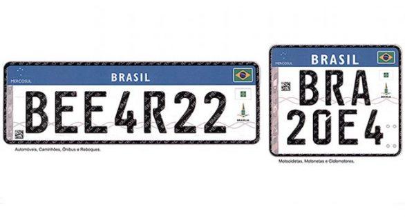 Alagoas deve adotar novo modelo de placa de carro ainda este ano