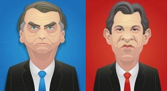 Ibope: Bolsonaro tem 54% dos votos válidos e Haddad, 46%