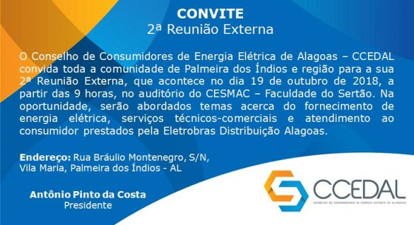 Conselho de energia promove reunião externa em Palmeira dos Índios