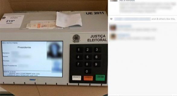 Eleitor acaba preso após filmar voto