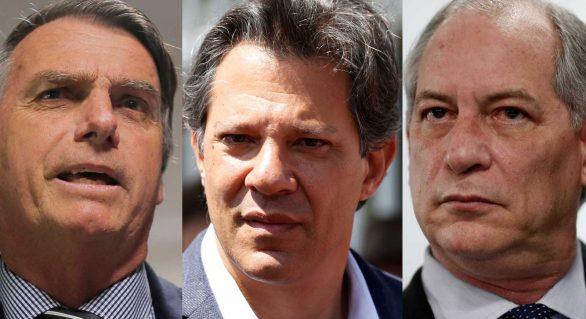Bolsonaro, Haddad e Ciro prometem rever regras do Imposto de Renda