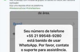 Flávio Bolsonaro diz que teve conta do WhatsApp banida