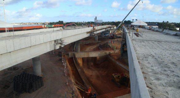 Obras do Viaduto da PRF evoluem com três frentes de serviços simultâneas