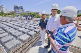 Governador visita obras de ampliação do Centro de Convenções de Maceió