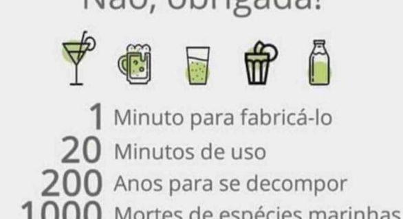 Canudos de plástico estão com os dias contados em Alagoas