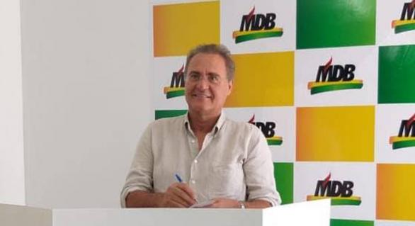 MDB estadual realiza convenção e mantém Renan Calheiros na presidência