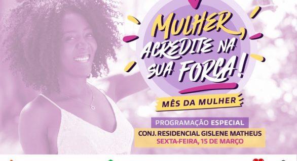 Prefeitura realiza ação em comemoração ao mês da mulher